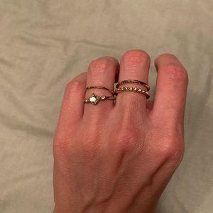 Unique gold ring set.